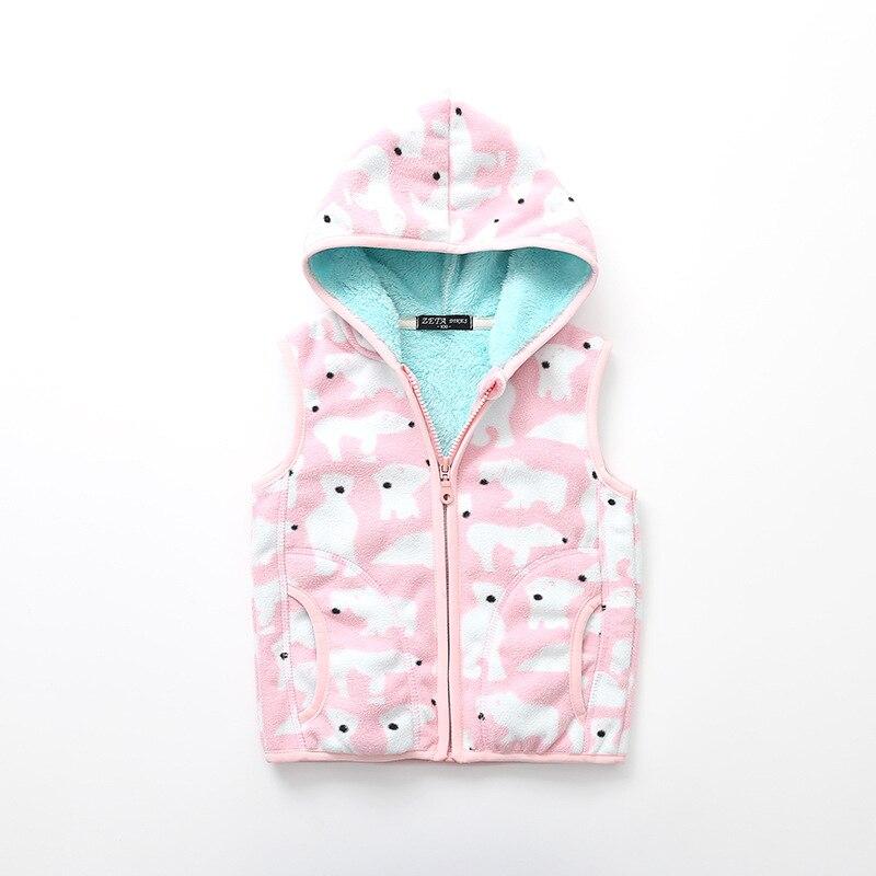 New Kids Polar Fleece Thickened Bear Vest. Boys and girls  warm vests. .