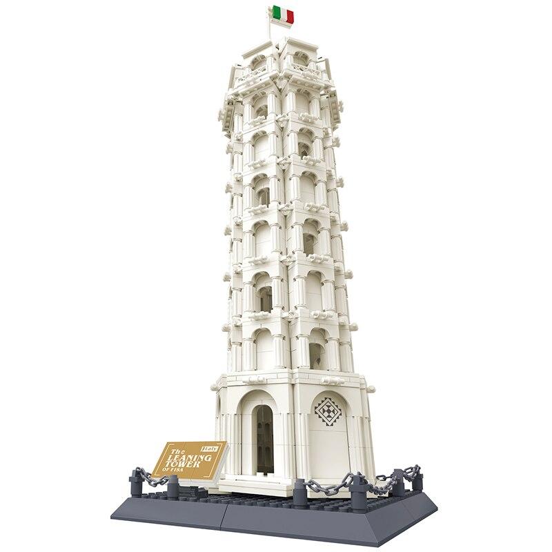 KAZI D'action Model Pisa De Tour Penchée Bloc De Construction Mini L'architecture Classique Collection Briques Jouet Pour Les Enfants Apprenant