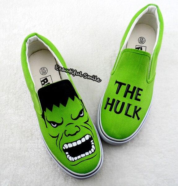 Mano Shoe Parejas Unisex A Plano Unique Graffiti Hulk Pintado Zapato z5q1BwA7