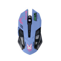 New Overwatchs Breathing LED Backlit Gaming Mouse D VA Genji Reaper Wired USB Computer Mouse For