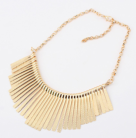 2015 vintage beads choker pendent Joker metal fringe necklace short necklace, European and American fashion necklace accessaries