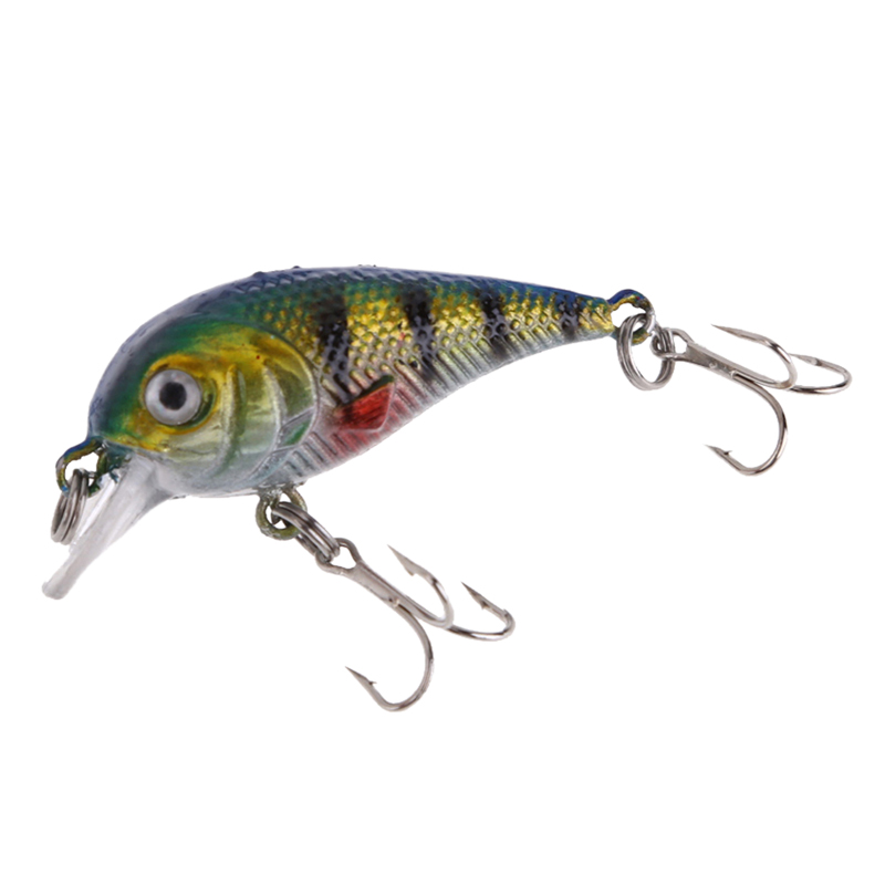 1 PC 6g Fishing Lures Treble Hook Bait Fishing Crankbait Lure Bait Hook 2 Colors Available blue and green wldslure 1pc 54g minnow sea fishing crankbait bass hard bait tuna lures wobbler trolling lure treble hook
