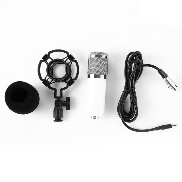 with Shock Mount for Radio Braodcasting Singing Black Professional BM 800 bm800 Condenser Sound Recording Microphone