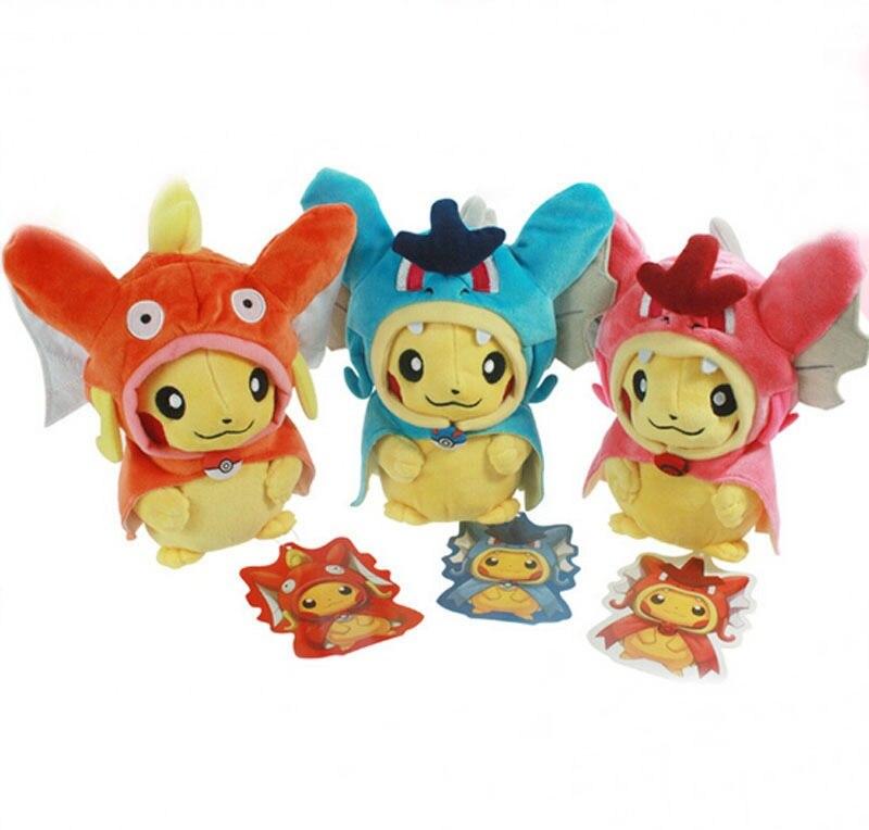 21 cm de bande dessinée jouets en peluche Pikachu Cosplay X Dracaufeu Magikarp Brinquedo Jouets En Peluche Belle Peluche Jouets Poupées