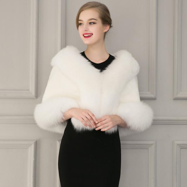 buy popular 38ec4 cd813 Europe 2016 new winter women clothing Faux Fur Coat bridal ...