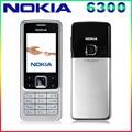 Envío libre abierto original nokia 6300 teléfono celular tribanda bluetoth email radio fm mp3 player apoyo teclado ruso/árabe