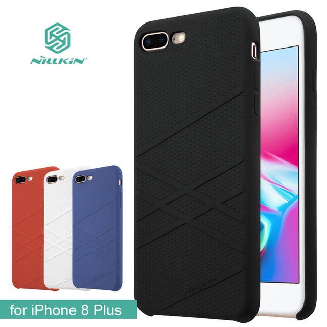 eb948fc573 for iPhone 8 Plus Case Nillkin Flex Liquid Silicone Phone Case TPU Soft Back  Cover Case for iPhone 8 Plus 5.5