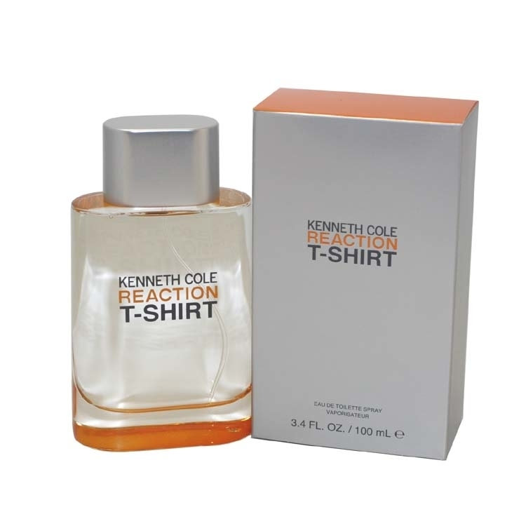 REACTION T-SHIRT by Kenneth Cole for Men EAU DE TOILETTE SPRAY 3.4 oz / 100 ML kenneth cole reaction women s beauty in belize skirted bikini bottom