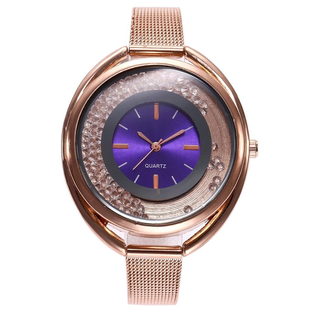 Genvivia women's watches casual quartz  strap women watches luxury brand stainless steel rose gold women watches #w30