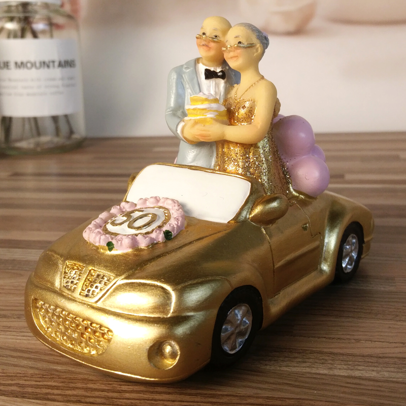 Golden wedding anniversary gifts resin home decoration accessories golden wedding anniversary gifts resin home decoration accessories figurines mothers day gift souvenir desktop decoration in figurines miniatures from junglespirit Choice Image