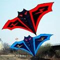 180 cm Grande Morcego Pipa Pipas de Costura Manual seqüência de Controle Fácil Voar Brinquedo Presente Das Crianças Brinquedos de Esportes Ao Ar Livre