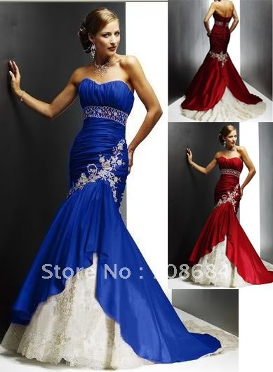 Us 167 99 Wholesale Blue Sexy Mermaid Style Wedding Dresses Bridal Prom Gown Plus Size In Wedding Dresses From Weddings Events On Aliexpress Com