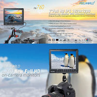 FW760 Ultra HD 1920x1200 IPS 1080P HDMI FPV Reverse Back Rear View cctv Camera Audio Field Monitor Mount for car camera system