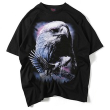 Men's T-shirt factory direct sales 3D T-shirt personalized creative three-dimensional eagle can be customized pattern Ebay explo