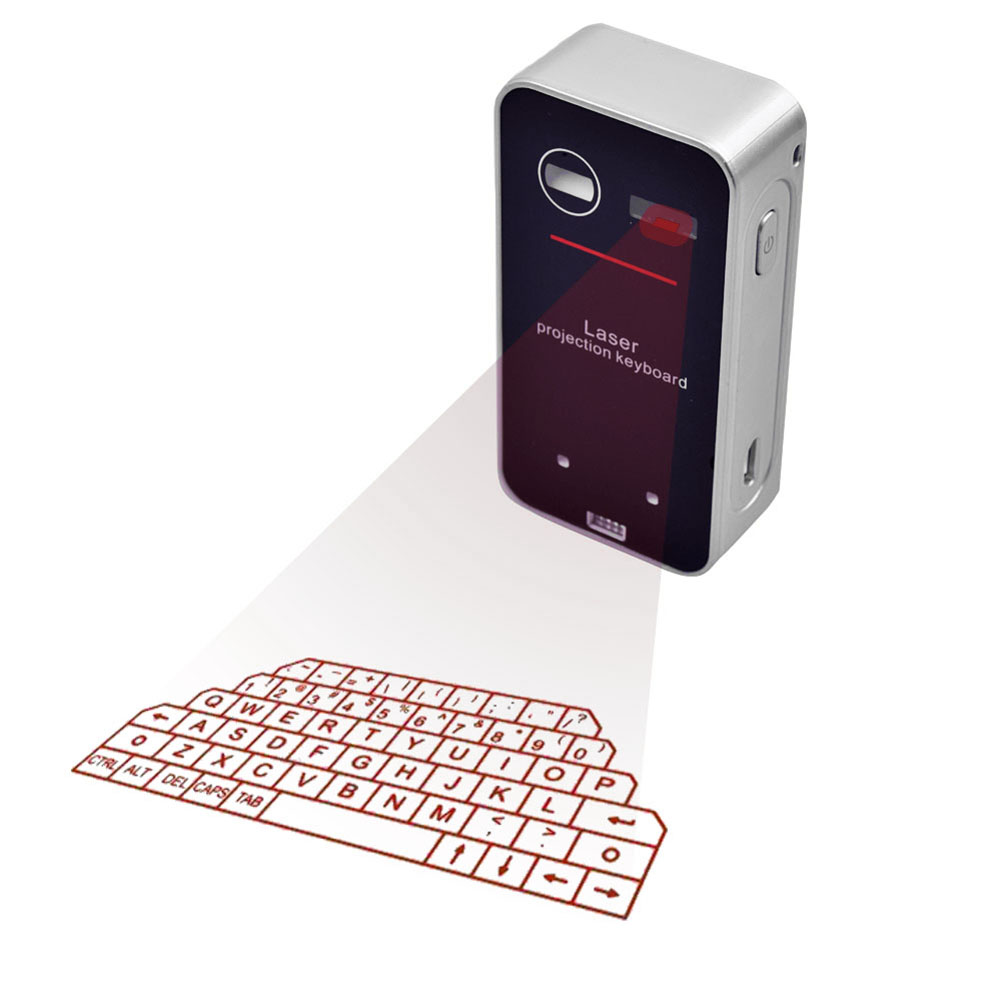 2017 New Bluetooth Laser Virtual Keyboard Projection Keyboard English QWERTY keyboard for Smartphone PC Tablet Laptop