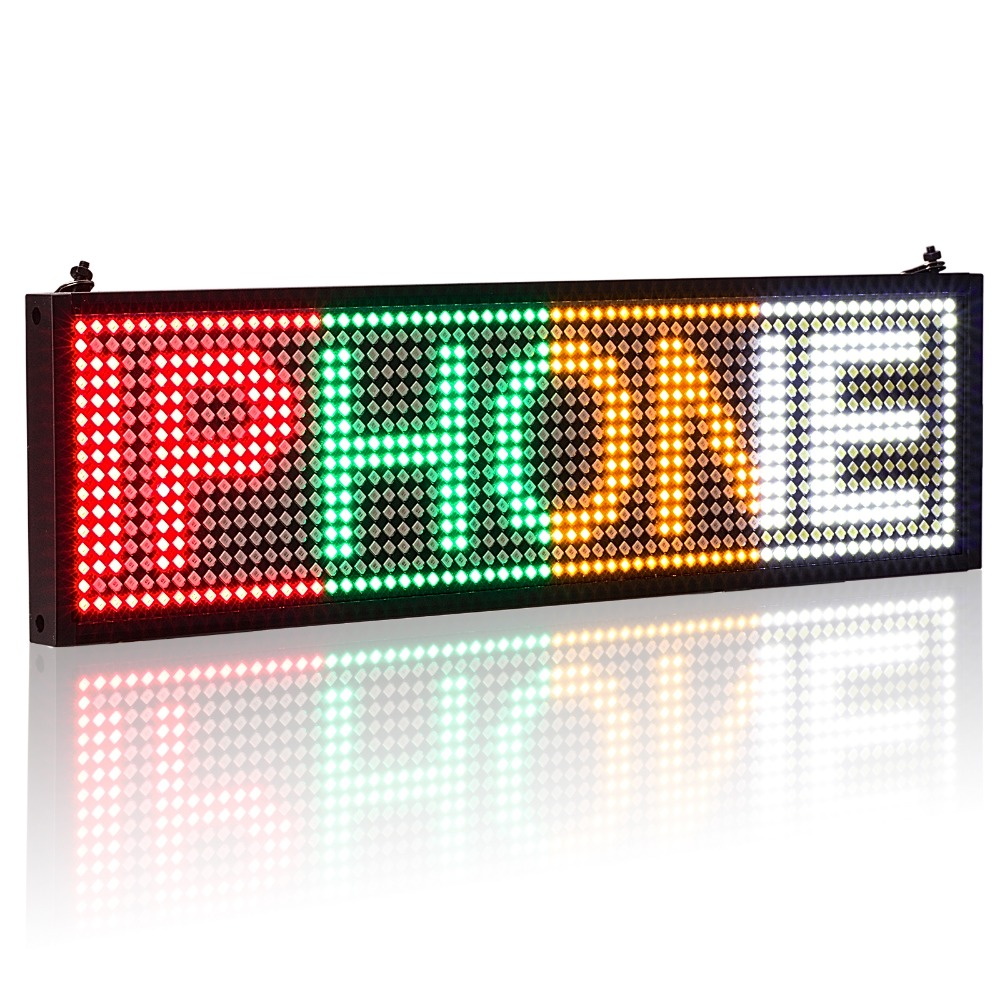 P5 SMD LED display panel ios wifi programmable scroll message shop window advertising LED signage business