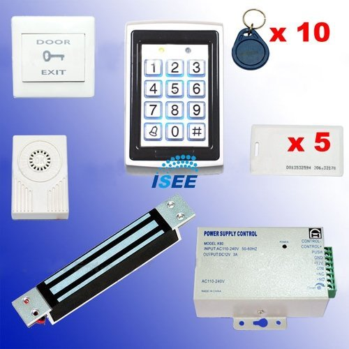 RFID Access Control DIY Full Kit Set - Electric Magnetic Lock 180kg NC Fail Safe