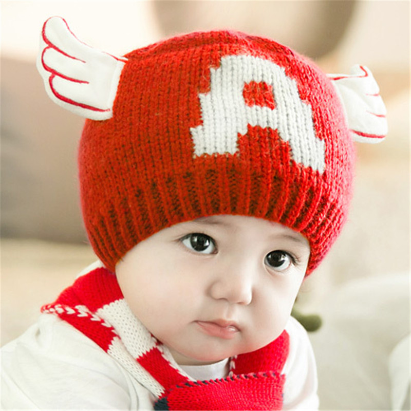San Francisco F16a3 C1145 Baby Boy Toddler Knitted Woolen Skull Hats