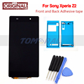 Black LCD Display For Sony Xperia Z2 D6502 D6503 D6543 L50W Touch screen digitizer with Tools + Adhesive sticker ,Free shipping