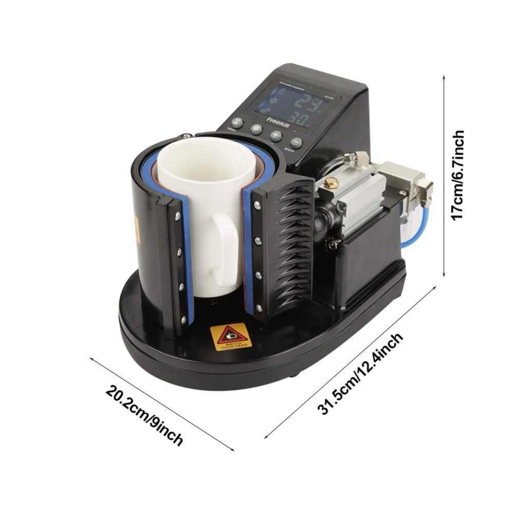 2019 oz pneumática 11 machineST 110 sublimação caneca da imprensa do calor da caneca de imprensa da máquina impressora de caneca caneca diy