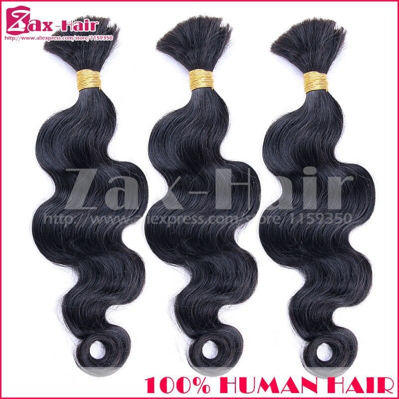 Is Customized Bulk Hair Body Wave Bulk Human Hair For Braiding Virgin Brazilian Human Hair No Shedding No Tangle 7A Top Quality