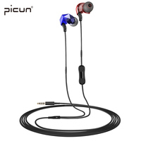 Picun E6 In Ear Earphones With Noise Cancelling Earphone With Microphone Volume Control For IPhone For