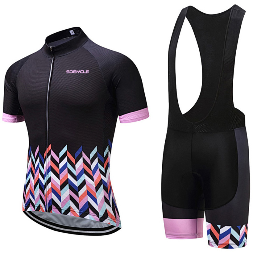 sobycle brand women cycling jersey 9D gel pad bike shorts set MTB Ropa Ciclismo waves mens summer bicycling Maillot wear