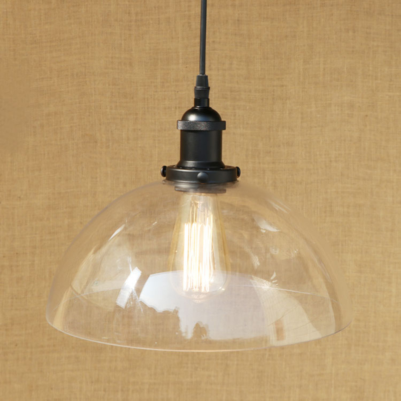 Modern Semi-circular glass shade pendant lamp LED Edison bulb Pendant Light Indoor lighting For restaurant/dining room E27 220V modern semi circular glass shade pendant lamp led edison bulb pendant light fixture for kitchen lights dining room bar e27 220v