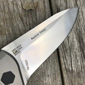 Image 4 - LDT 0801 Folding Knife M390 Blade Titanium TC4 Handle Tactical Knives Camping Hunting Ball Bearing Survival Knife EDC Tools