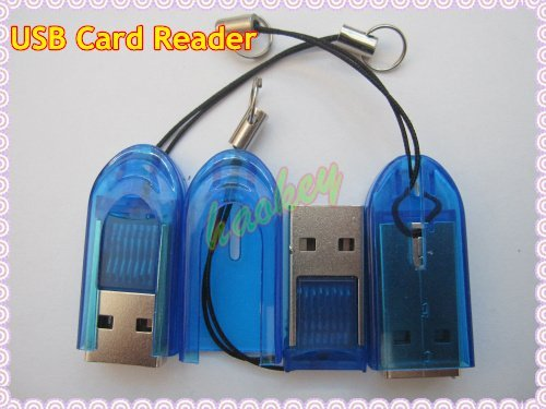 10pcs Free shipping USB 2.0 micro sd card reader,TF card reader,mini usb card reader