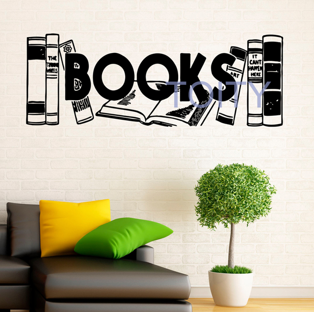 Aliexpress.com : Buy Books Vinyl Decal Farm Wall Sticker Reading ...