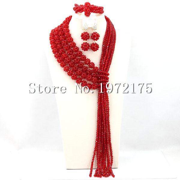 African Handmade Beaded Jewelry Sets Arabic Jewelry Sets Luxury Wedding Jewelry Hot Free Shipping A00310