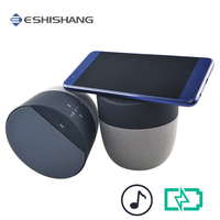 Travel Portable Bluetooth Speaker Qi Wireless Charger Quick Charging Music Player for iPhone 8 8Plus X for Samsung