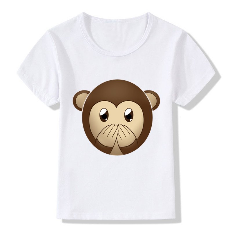 2018 Children Cartoon Cute EMOJI Smile Face Funny T-Shirts Kids Summer Tops Tees Girls B ...