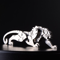 Tiger 3D Steel Metal Joint Mobility Miniature Model Kits Puzzle Toys Children Educational Boy Splicing Hobby
