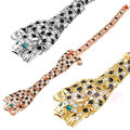 Mytys Hot Leopard Animal Crystal Link Bracelet  Gold Plated jewelry for women B308 313 501