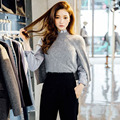 [CHICEVER] 2017 Spring Solid Sleeveless Casual Cloak Style Shawl Knitting Pullovers Sweater Women New Fashion Clothing