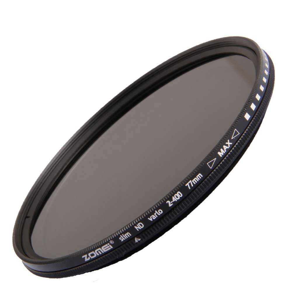 SirMo ND2-400 Neutral Density ND Filter Fader Variable Adjustable Optical Glass Lens