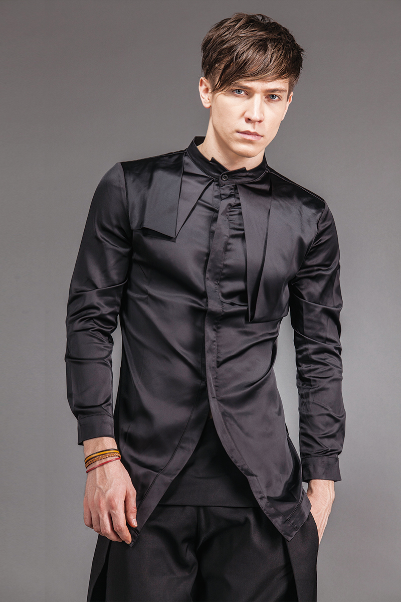 black silk shirt - HD800×1200