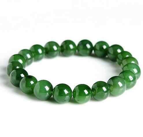W porządku biżuteria naturalne HeTian Biyu kule jadeit bransoletki Green pani prezent dla kobiet mężczyzn