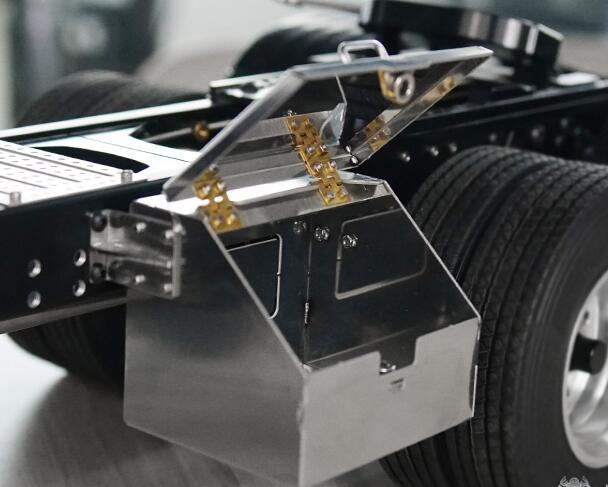 LESU Parts Metal Rear Fender A//B for 1//14 RC DIY TAMIYA 3348 Truck Car Model FS