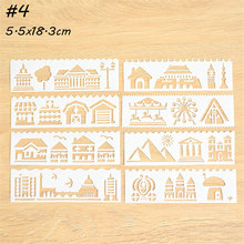 8pcs/set House Theme Layering Stencils For Walls Painting Scrapbooking Stamp Album Decor Embossing Paper Card Template(China)