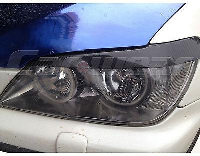 Headlight Cover Eyelid Eyebrow For Lexus IS200 99 04 Carbon Fiber