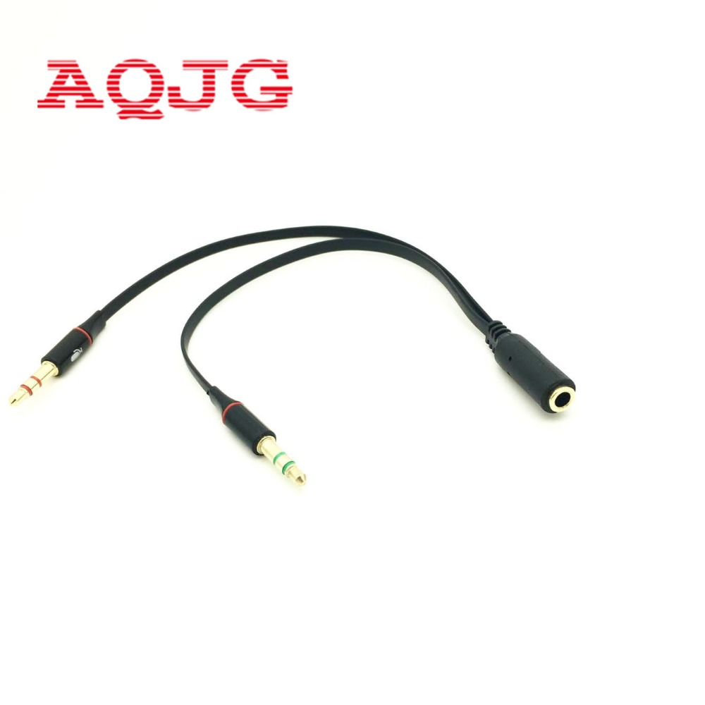3.5 Mm Stereo Mini Jack 1 Female To 2 Male Y Splitter Earphone Audio Cable For Mp3 Computer Phones AQJG