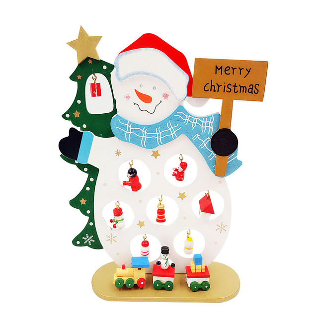 Cute Merry Christmas Santa Claus/Snowman Wooden Small Ornaments For ...