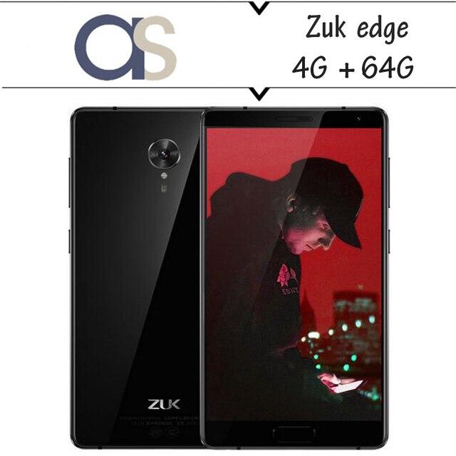 "New Original Lenovo ZUK Edge 4G Cell phone Snapdragon 821 Quad Core 4G RAM 64G ROM 5.5"" 1920x1080P 13.0MP Camera Fingerprint"
