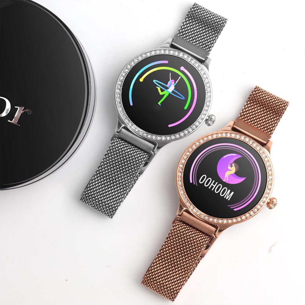 M8 Bluetooth montre intelligente étanche fréquence cardiaque LuxuryFashion dame Smartwatch montre-bracelet femmes Fitness Tracker pour Android IOS