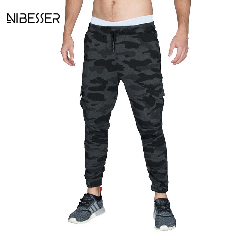 NIBESSER Brand Fashion Camouflage Printed Pants Men Long Pants Autumn Pencil Pants Loose Camo Jogge Comfortable Cargo Trousers ...