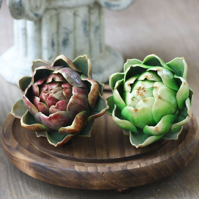 Artichoke artificial succulents plastic flower home decor for Artichoke decoration