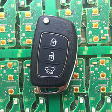 For Hyundai IX35 IX25 Original Size Car Remote Key 3 Buttons 433Mhz With ID46 font b